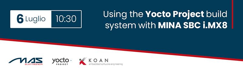 Iscriviti subito al webinar Yocto project